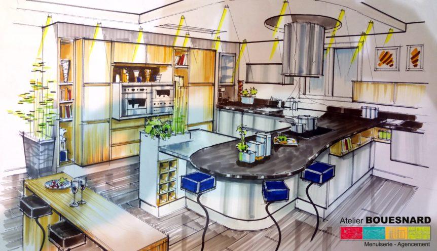 Cuisine contemporaine archives atelier bouesnard - Salon habitat angers ...