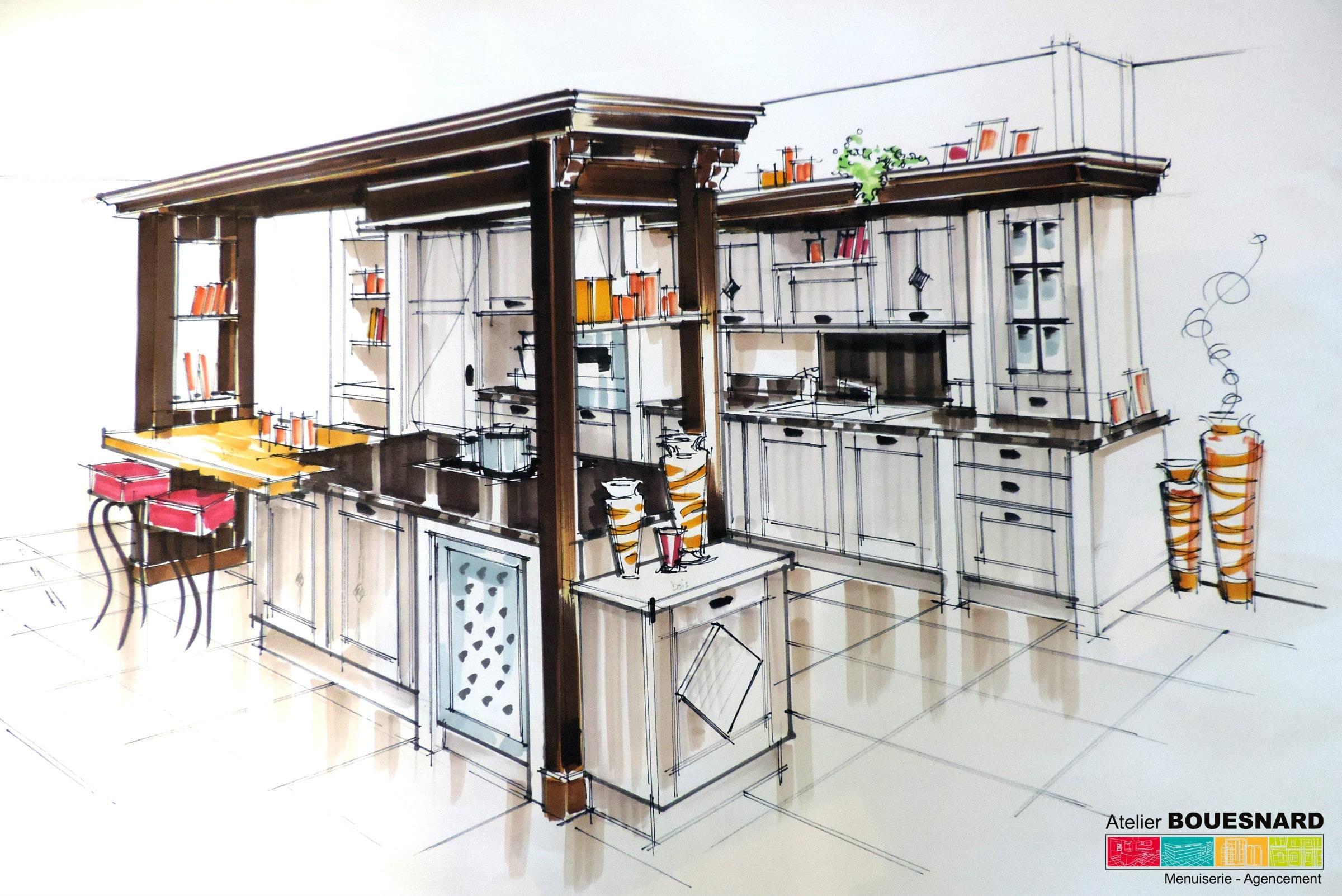 Atelier bouesnard menuisier agencement dressing for Agencement cuisine france